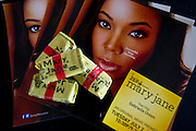 """Promotional material is displayed before a screening of BET's """"Being Mary Jane"""" at the W Hotel in Dallas, Texas on June 22, 2013."""
