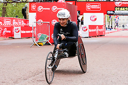 April 28, 2019 - London, UK, UK - London, UK. Manuela Schar wins the women's wheelchair race at the 2019 Virgin Money London Marathon. (Credit Image: © Dinendra Haria/London News Pictures via ZUMA Wire)