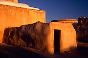 East side entrance to mission and bell tower at sunrise, Tumacacori National Historical Park, Tumacacori, Arizona...Rights & Usage:.No rights granted. Subject photograph(s) are copyrighted by ©1989 Edward McCain/McCain Photography. All rights are reserved except those specifically granted in writing prior to any use...McCain Photography.211 S 4th Avenue.Tucson, AZ 85701-2103.(520) 623-1998.mobile: (520) 990-0999.fax: (520) 623-1190.http://www.mccainphoto.com.edward@mccainphoto.com