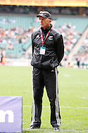 Photo by Andrew Tobin/Tobinators Ltd. New Zealand coach Gordon Tietjens from the IRB London Rugby 7s tournament held at Twickenham Stadium, London on 12th May 2013. New Zealand won the tournament beating Australia in the final, and also won the overall 2012/13 series.