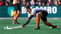 BLOEMENDAAL - HOCKEY - Sander Baart  van OZ  tijdens de hoofdklasse competitiewedstrijd tussen de mannen van Bloemendaal en Oranje-Zwart (2-2). FOTO KOEN SUYK