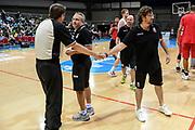 DESCRIZIONE : 3° Torneo Internazionale Geovillage Olbia Sidigas Scandone Avellino - Brose Basket Bamberg<br /> GIOCATORE : Emanuele Aronne Stefano Sacripanti Andrea Trinchieri<br /> CATEGORIA : Fair Play Postgame<br /> SQUADRA : Sidigas Scandone Avellino<br /> EVENTO : 3° Torneo Internazionale Geovillage Olbia<br /> GARA : 3° Torneo Internazionale Geovillage Olbia Sidigas Scandone Avellino - Brose Basket Bamberg<br /> DATA : 05/09/2015<br /> SPORT : Pallacanestro <br /> AUTORE : Agenzia Ciamillo-Castoria/L.Canu