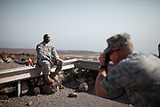 """Military people from the Civil Affairs department of the US Army doing a trip to Sagallou (near Tadjoura), as part of a medical camp mission. Part of the """"3D approach"""" of the US Army : Development (in that case), Democracy, Defense...The geostrategical and geopolitical importance of the Republic of Djibouti, located on the Horn of Africa, by the Red Sea and the Gulf of Aden, and bordered by Eritrea, Ethiopia and Somalia."""