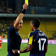 Referee Ivan Bebek (L) and Fenerbahce's Nani (R) during their UEFA Europa league Play-Offs Second Leg soccer match Fenerbahce between Atromitos at the Sukru Saracaoglu stadium in Istanbul Turkey on Thursday 27 August 2015. Photo by Aykut AKICI/TURKPIX