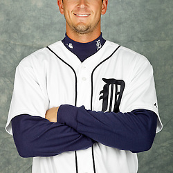 February 28, 2012; Lakeland, FL, USA; Detroit Tigers starting pitcher Drew Smyly (80) poses for photo day in the rec room at the Detroit Tigers Headquarters.  Mandatory Credit: Derick E. Hingle-US PRESSWIRE