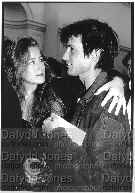 Candida Crewe and Francis Fry 1992. © Copyright Photograph by Dafydd Jones 66 Stockwell Park Rd. London SW9 0DA Tel 020 7733 0108 www.dafjones.com
