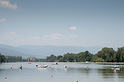 Plovdiv BULGARIA. 2017 FISA. Rowing World U23 Championships. <br /> <br /> Wednesday. PM, general Views, Course, Boat Area<br /> 12:38:38  Wednesday  19/07/2017<br /> <br /> [Mandatory Credit. Peter SPURRIER/Intersport Images].