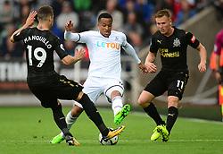 Martin Olsson of Swansea City tackles Javi Manquillo of Newcastle United - Mandatory by-line: Alex James/JMP - 10/09/2017 - FOOTBALL - Liberty Stadium - Swansea, England - Swansea City v Newcastle United - Premier League