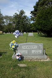 """31 August 2017:   Veterans graves in Dawson Cemetery in eastern McLean County.<br /> <br /> Clarence A """"Luke"""" Newberry  Nov 23 1916  Apr 3 2000"""