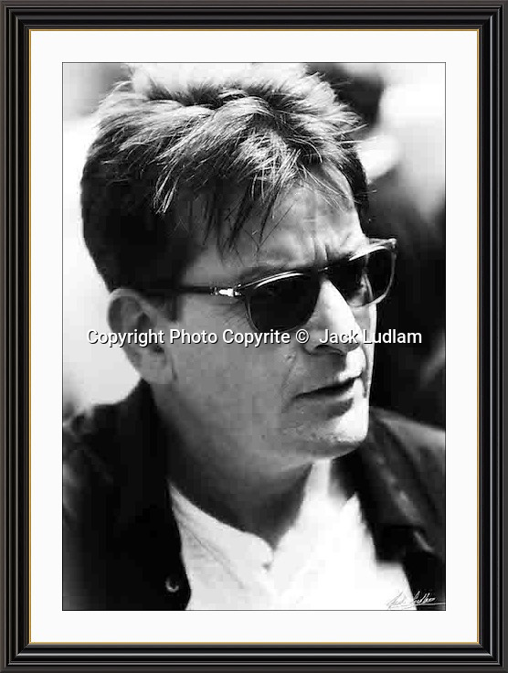 charlie  sheen London Mayfair Aug 2016 r<br /> Large A3 Museum-quality Archival signed Framed Print