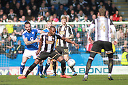 Notts County forward Shola Ameobi (9) during the EFL Sky Bet League 2 match between Chesterfield and Notts County at the Proact stadium, Chesterfield, England on 25 March 2018. Picture by Nigel Cole.