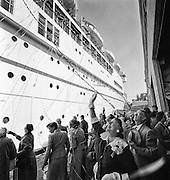 San Francisco, Cruise ship, sailing day, 1950