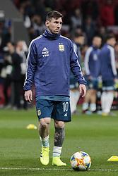 March 22, 2019 - Madrid, Spain - Argentina's Leo Messi warms during International Adidas Cup match between Argentina and Venezuela at Wanda Metropolitano Stadium. (Credit Image: © Legan P. Mace/SOPA Images via ZUMA Wire)