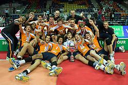 01-07-2012 VOLLEYBAL: EUROPEAN LEAGUE PRIJSUITREIKING: ANKARA<br /> Nederland wint de European League 2012<br /> ©2012-FotoHoogendoorn.nl/Conny Kurth