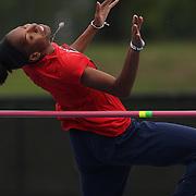 Brigetta Barrett, USA, in action during the Women's High Jump event at the Diamond League Adidas Grand Prix at Icahn Stadium, Randall's Island, Manhattan, New York, USA. 25th May 2013. Photo Tim Clayton