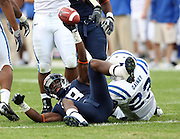 Virginia wide receiver Kris Burd (18) makes a catch during an ACC football game against Duke Saturday in Charlottesville, VA. Duke won 28-17. Photo/Andrew Shurtleff