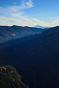 USA, Oregon, aerial landscape of Mt. Jefferon.