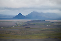 An aerial view from the Central Highlands of Iceland.