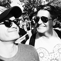 """Neil Patrick Harris releases a photo on Instagram with the following caption: """"Cuties \ud83d\udc6c\ud83d\ude1a\n#neilpatrickharris #davidburtka #nph #db #actors #lovethem #myedit #handsome #chef #twins #gideonscott #harpergrace #disneyworld #blackandwhite #burtkaharrisfamily #family #burtkaharris #vacation #couple #husbands @nph @dbelicious \ud83d\udc68\u200d\ud83d\udc68\u200d\ud83d\udc66\u200d\ud83d\udc66\ud83d\udc99\ud83d\udc9a"""". Photo Credit: Instagram *** No USA Distribution *** For Editorial Use Only *** Not to be Published in Books or Photo Books ***  Please note: Fees charged by the agency are for the agency's services only, and do not, nor are they intended to, convey to the user any ownership of Copyright or License in the material. The agency does not claim any ownership including but not limited to Copyright or License in the attached material. By publishing this material you expressly agree to indemnify and to hold the agency and its directors, shareholders and employees harmless from any loss, claims, damages, demands, expenses (including legal fees), or any causes of action or allegation against the agency arising out of or connected in any way with publication of the material."""