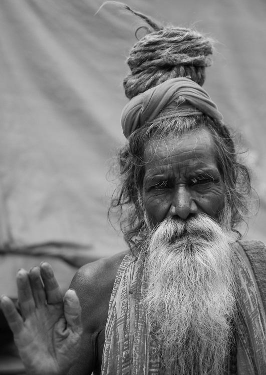 Religious Sadhu in the city of Varanasi.