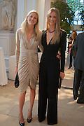 MARIA WIGGIN; JULIE HENDERSON, Cartier Tank Anglaise launch. Kensington Palace Orangery, London.  19 April 2012.