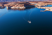 Fishing boat on Lake Powell Reservoir