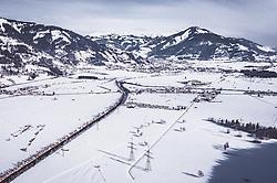 THEMENBILD - verschneite Winterlandschaft bei Kaprun, aufgenommen am 23. Januar 2019 in Piesendorf, Oesterreich // Winterlandscape in Piesendorf, Austria on 2019/01/23. EXPA Pictures © 2019, PhotoCredit: EXPA/ JFK