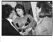 Laura Faber. London party. 1986 approx. © Copyright Photograph by Dafydd Jones 66 Stockwell Park Rd. London SW9 0DA Tel 020 7733 0108 www.dafjones.com