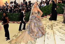 Ariana Grande attending the Metropolitan Museum of Art Costume Institute Benefit Gala 2018 in New York, USA.