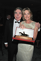 LORD & LADY LLOYD WEBBER at the 22nd Cartier Racing Awards held at The Dorchester, Park Lane, London on 13th November 2012.