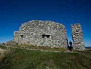 The 'fort' at Eggum, site of a German radar station during the Second World War, Vestvagoya, Lofoten Islands, Arctic Norway