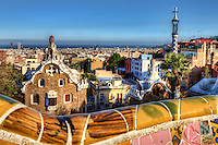 Park Güell is a garden complex with many architectural elements designed by the Catalan architect Antoni Gaudí and built in the years 1900 to 1914. It's located on the hill of El Carmel in the Gràcia district of Barcelona.