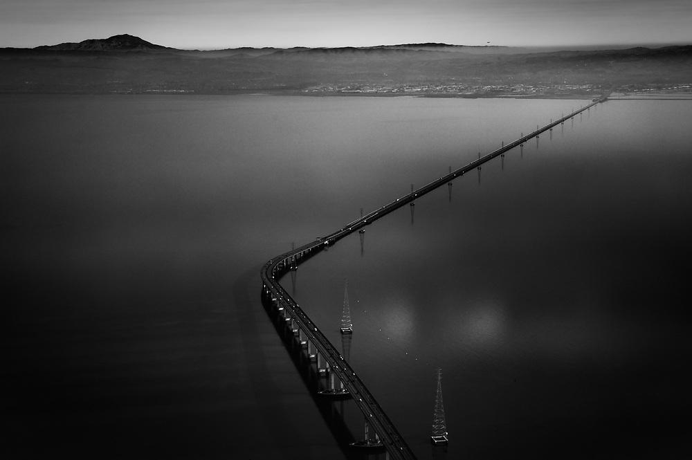 San Mateo Bridge over the San Francisco Bay. California.