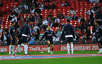 Photo: Tony Oudot/Richard Lane Photography.  England v Czech Republic. International match. 20/08/2008. <br /> England players led by Joe Cole warm up before the game .