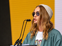 Laura haddock letters live at the  Wilderness Festival Cornbury Park Oxfordshire,photo by Mark Anton Smith