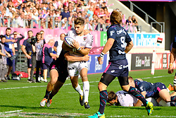 September 24, 2017 - Paris, France - The RCT Back Hugo Bonneval in action during The French Rugby Championship Top14 Stade Francais vs Rugby Club Toulonnais at The Jean Bouin Stadium in Paris - France.RCT won 15-19 (Credit Image: © Pierre Stevenin via ZUMA Wire)