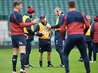Rugby Union - 2020 Six Nations - England Open Training Session, Twickenham<br /> <br /> England's attack coach Simon Amor in conversation with assistant coach Steve Borthwick during the Open Training Session, at Twickenham Stadium<br /> <br /> COLORSPORT/ASHLEY WESTERN