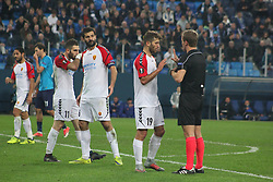 November 23, 2017 - Saint-Petersburg, Russia - Of The Russian Federation. Saint-Petersburg. Arena Saint-Petersburg. Zenit-arena. Football match of the UEFA Europa League, group stage: Zenit - FK Vardar. The player of football club. (Credit Image: © Russian Look via ZUMA Wire)