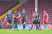 Doncaster Rovers team mates celebrate during the Pre-Season Friendly match between Scunthorpe United and Doncaster Rovers at Glanford Park, Scunthorpe, England on 15 August 2020.