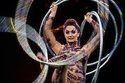 Santiago Mazzarovich/ URUGUAY/ CANELONES/ PARQUE ROOSVELT/ La reconocida compañía circense, Cirque du Soleil, realizó un ensayo general del espectáculo Kooza, antes de la primera función en el Parque Roosvelt, Canelones.<br /> <br /> En la foto: Ensayo general del espectáculo Kooza del Cirque du Soleil en el Parque Roosvelt, Canelones. Foto: Santiago Mazzarovich/adhocFotos.<br /> <br /> 20160308 día martes