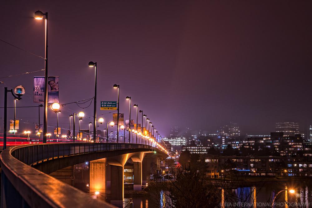 Cambie Bridge & False Creek @ Night