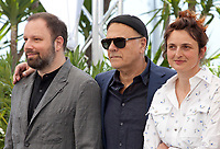 Directors Yorgos Lanthimos, Enki Bilal and Alice Rohrwacher at the  Jury photo call at the 72nd Cannes Film Festival, Tuesday 14th May 2019, Cannes, France. Photo credit: Doreen Kennedy