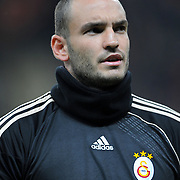 Galatasaray's goalkeeper Ufuk CEYLAN during their Turkish Superleague soccer match Galatasaray between Sivasspor at the Turk Telekom Arena at Aslantepe in Istanbul Turkey on Sunday 23 January 2011. Photo by TURKPIX