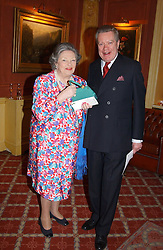 LADY DUNCAN SANDYS and IAN SCOTT at a party to say goodbye to George Goring and hello to his son Jeremy Goring as MD of the Goring Hotel,Beeston Place, London on 2nd March 2005.<br /><br />NON EXCLUSIVE - WORLD RIGHTS