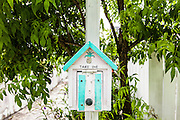 A informational mailbox on the tiny village of Hope Town, Elbow Cay Abacos, Bahamas.