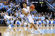 01 December 2015: North Carolina's Marcus Paige. The University of North Carolina Tar Heels hosted the University of Maryland Terrapins at the Dean E. Smith Center in Chapel Hill, North Carolina in a 2015-16 NCAA Division I Men's Basketball game. UNC won the game 89-81.