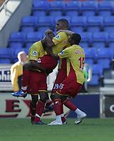 Photo: Andi Thompson.<br />Wigan Athletic v Watford. The Barclays Premiership. 23/09/2006.<br />Watford Players celebrate Hamer Bouazza's (C) goal.