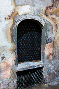 Rioja wine stored in underground cellar at Carlos San Pedro Bodega winery in medieval Laguardia in Basque country, Spain