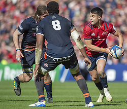 March 30, 2019 - Edinburgh, Scotland, United Kingdom - Conor Murray of Munster runs with the ball during the Heineken Champions Cup Quarter Final match between Edinburgh Rugby and Munster Rugby at Murrayfield Stadium in Edinburgh, Scotland, United Kingdom on March 30, 2019  (Credit Image: © Andrew Surma/NurPhoto via ZUMA Press)