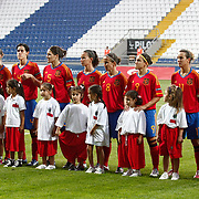 Spain's players during their UEFA 2013 Woman's Euro Qualifying Group Stage Group 2 soccer match Turkey betwen Spain at Kasimpasa Recep Tayyip Erdogan stadium in Istanbul September 17, 2011. Photo by TURKPIX